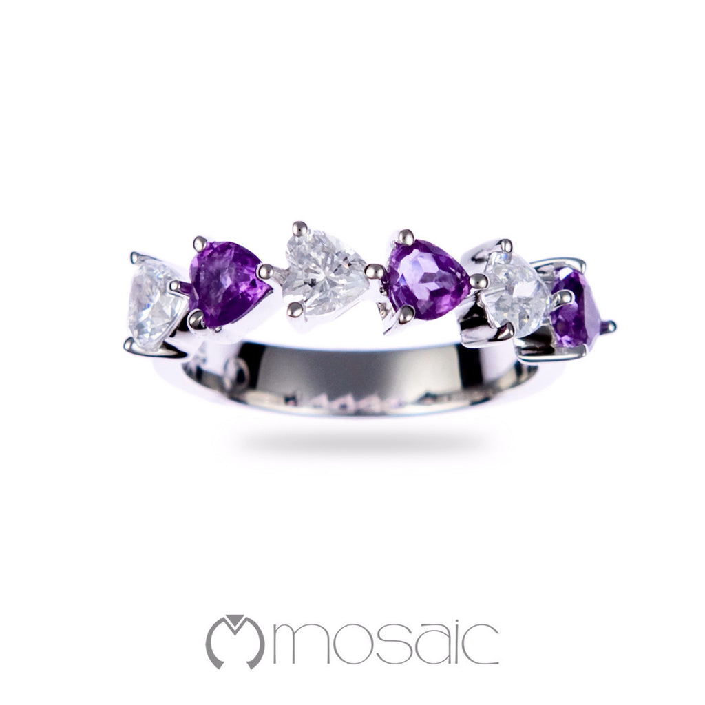 Lydia Purple :: Ring 1.685A - Mosaic Design Jewelry