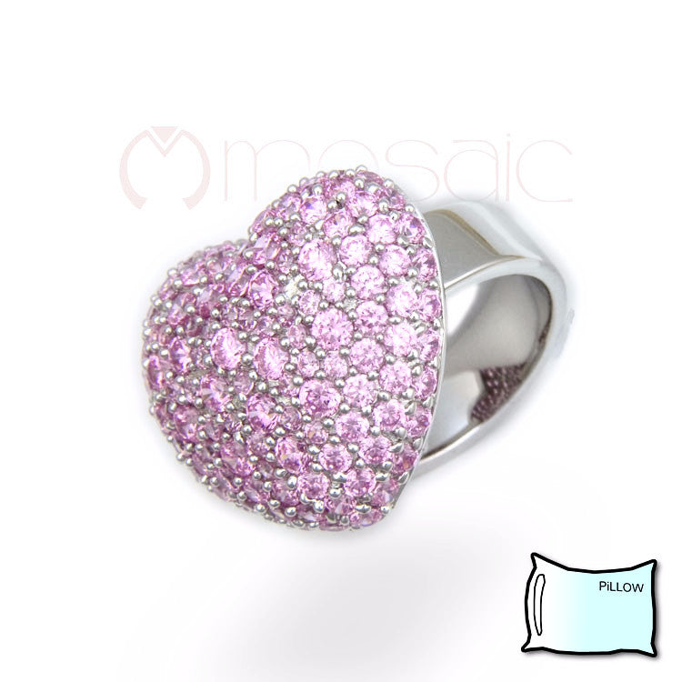 Heart Pillow Ring - Mosaic Design Jewelry - 1