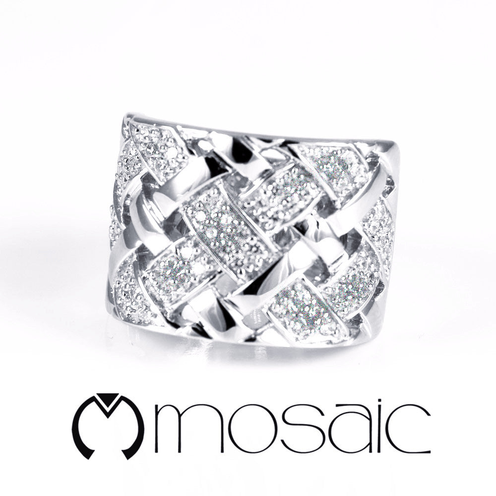 Woven :: Ring 1.725 - Mosaic Design Jewelry - 1