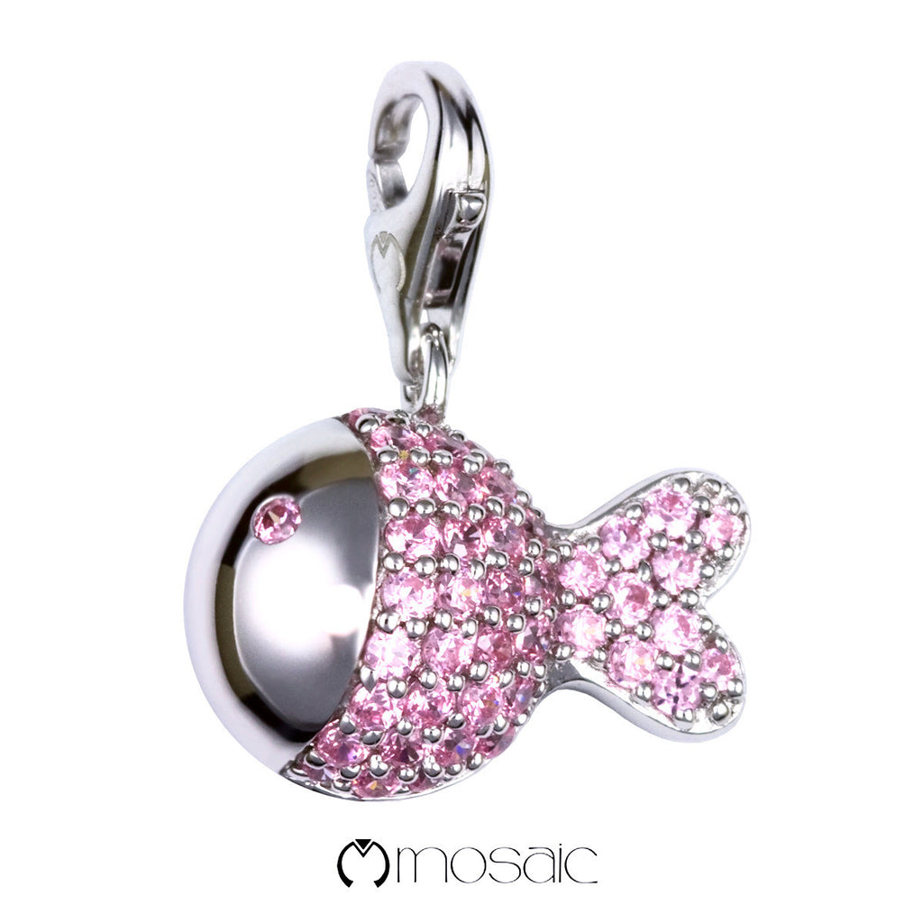 Pink Fish :: Lucky Charm - Mosaic Design Jewelry - 1