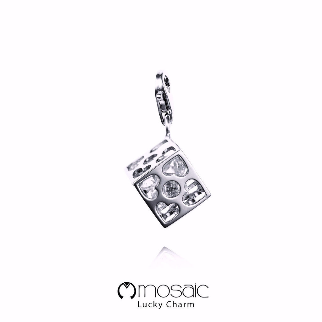 Rin :: Dice Lucky Charm - Mosaic Design Jewelry