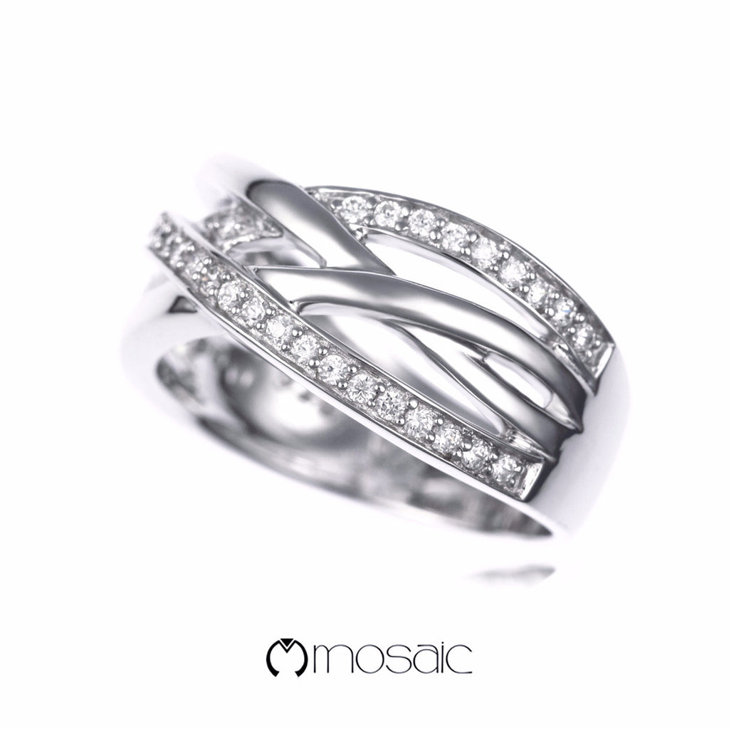 Maude :: Hug-me Ring Collection 150204 - Mosaic Design Jewelry - 3