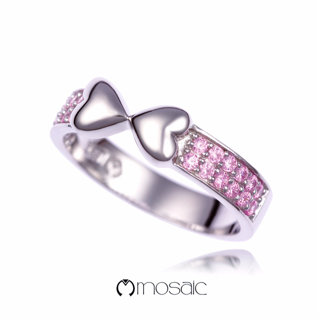 Jacynth :: Double Heart Ring 150301PK - Mosaic Design Jewelry - 1