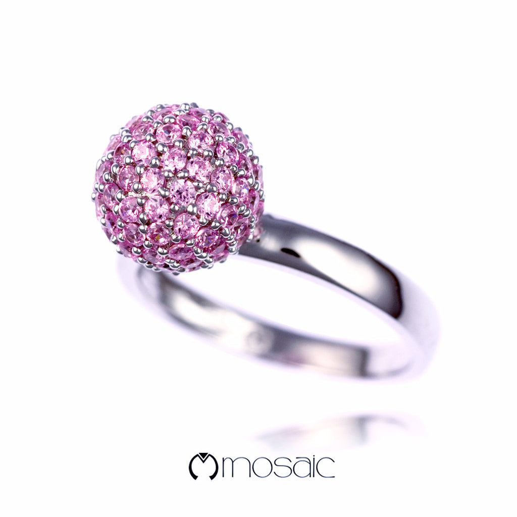 Dara :: Pink Ball Ring 1.748PK - Mosaic Design Jewelry - 2