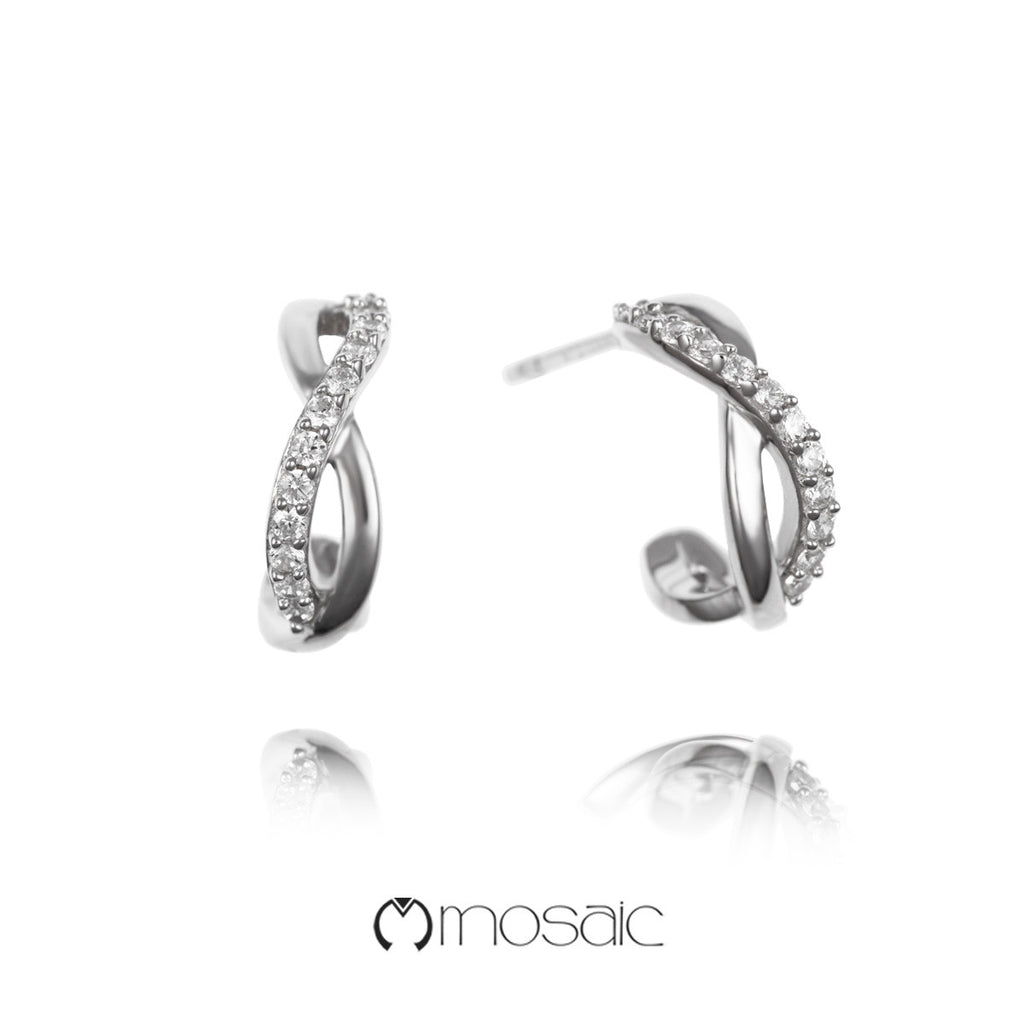 Serissa :: Fine Silver Infinity Twist Earrings 241204 - Mosaic Design Jewelry - 1