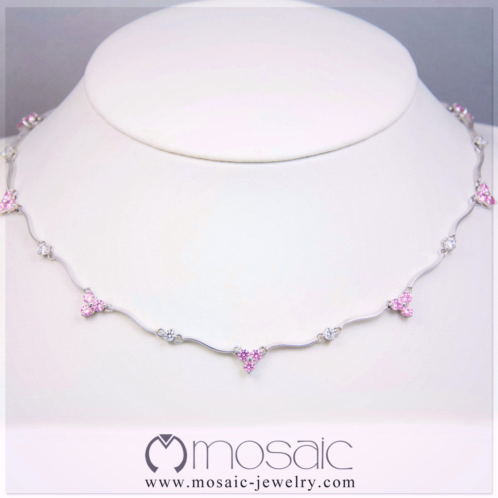 Lizzie (Pink) :: Lux Necklace 3.378PK - Mosaic Design Jewelry