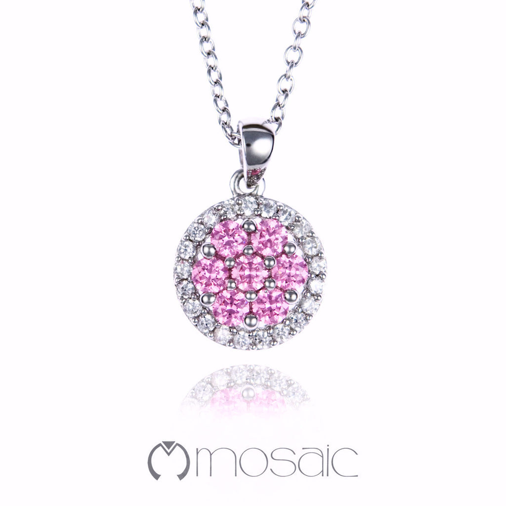 Evelyn Pink :: Necklace 3.697PK - Mosaic Design Jewelry - 1