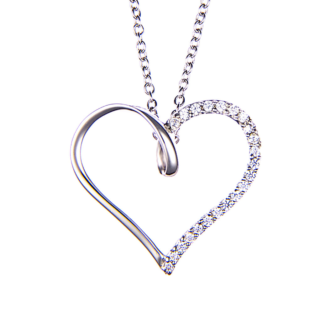 Rabia :: Fine Silver Simple Heart Necklace