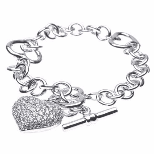 """Forever Love"" bracelet in Cubic  4.373 - Mosaic Design Jewelry"