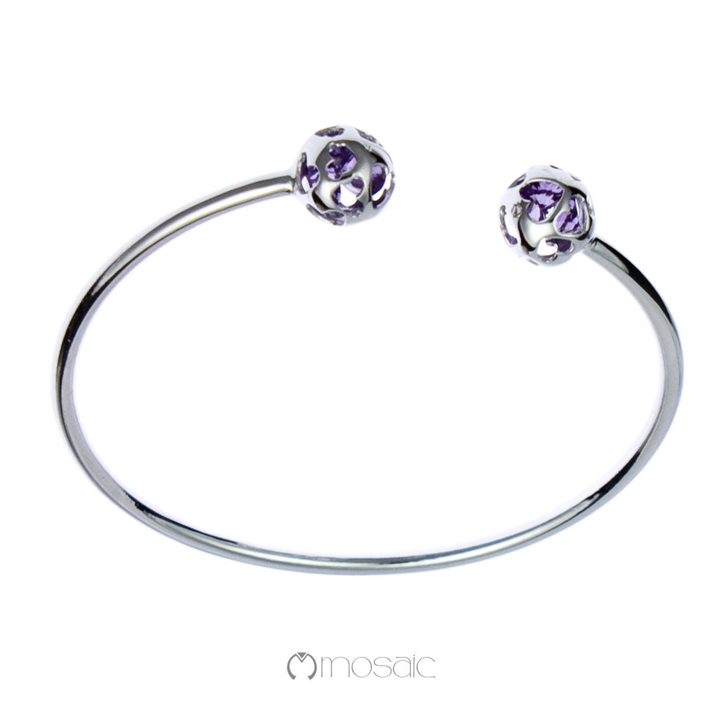 Ball Bangle Purple 4.556A - Mosaic Design Jewelry - 1