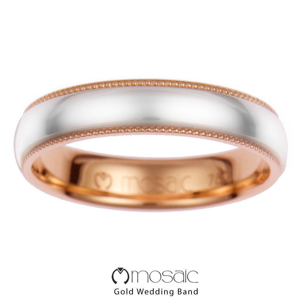 Fascino : Mosaic Fine Gold Couple Ring Band - Mosaic Design Jewelry