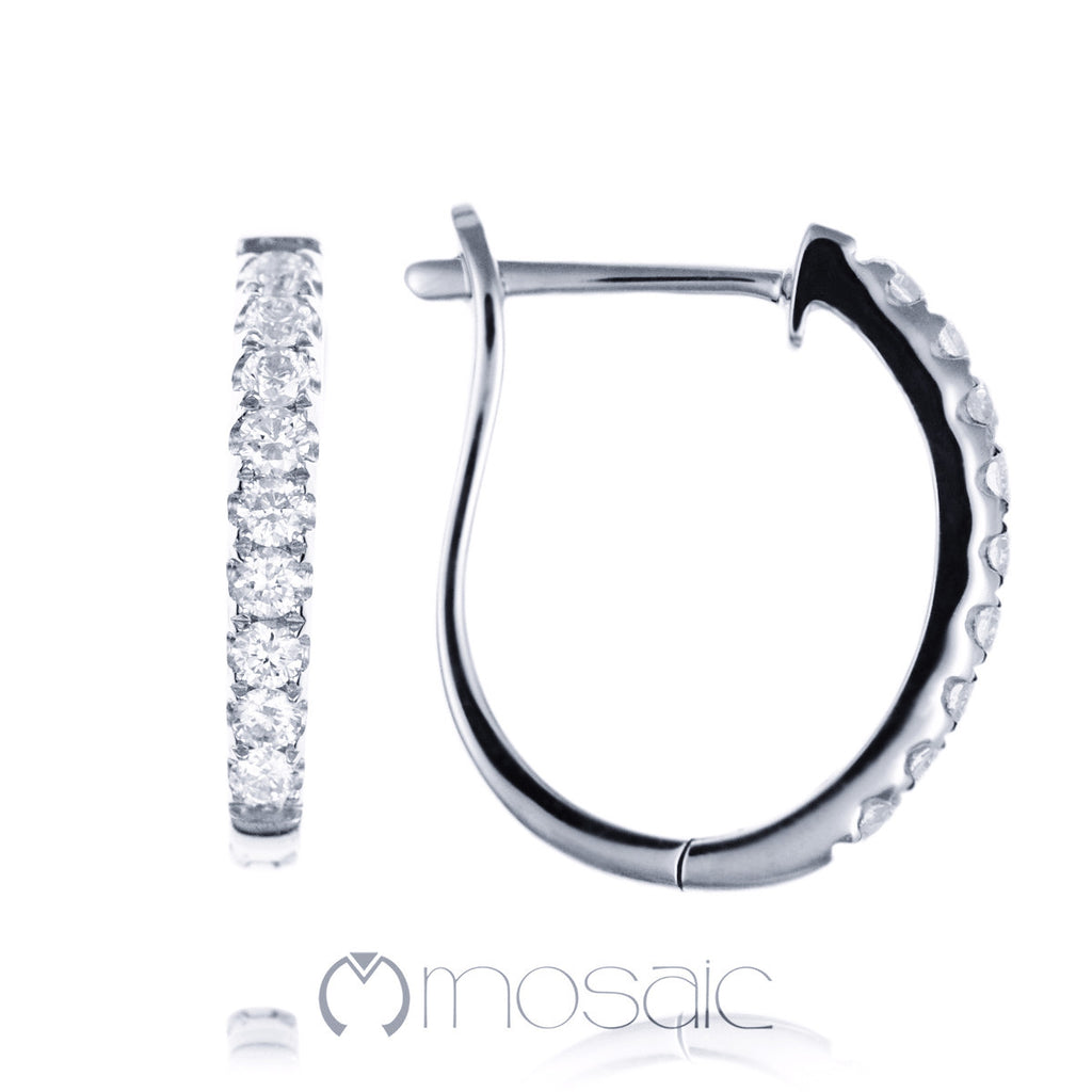 Diamond :: Hoop 8.002 - Mosaic Design Jewelry - 1