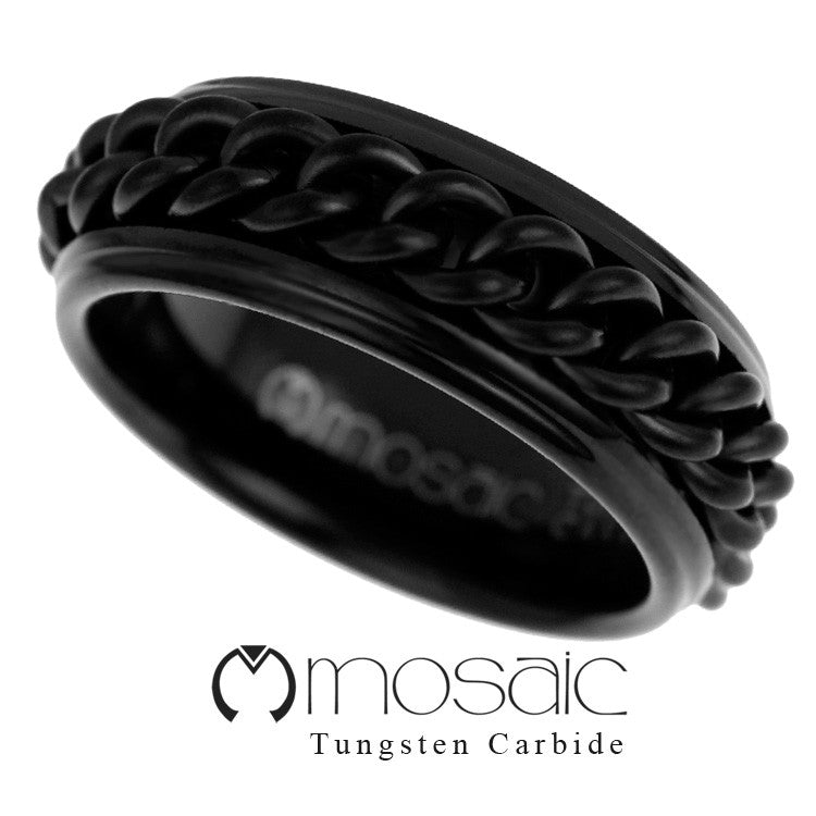 Premium Tungsten Ring T1.098 - Mosaic Design Jewelry