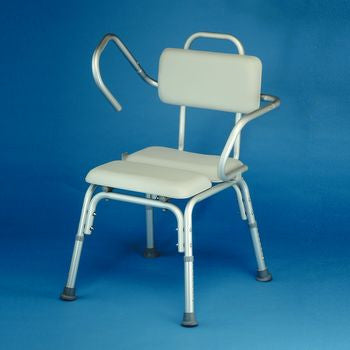 Padded Shower Chair with Flip Back Arm Rest