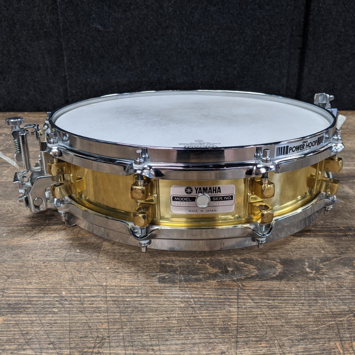 Yamaha SD493 3.5x14 Brass Piccolo Snare Drum - Used