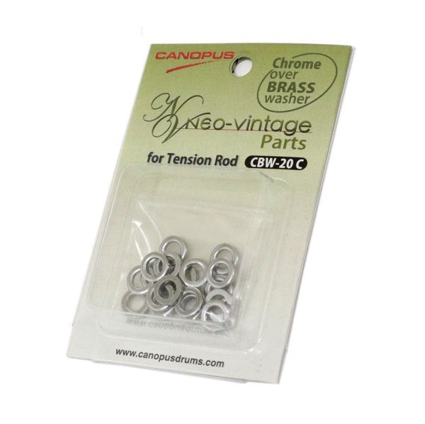 Canopus CBW20C Chrome Over Brass Washers 20 pcs