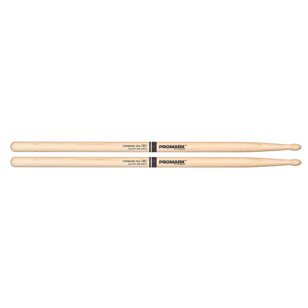"Promark FBH580TW Forward 55A 580"" Hickory Tear Drop Wood Tip Drumsticks"