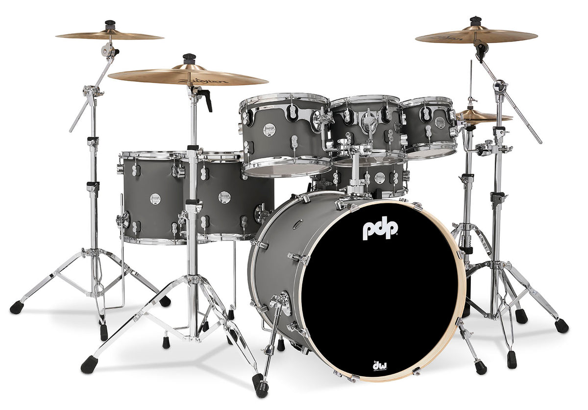 PDP PDCM2217SP Concept Maple 7pc Shell Kit Satin Pewter