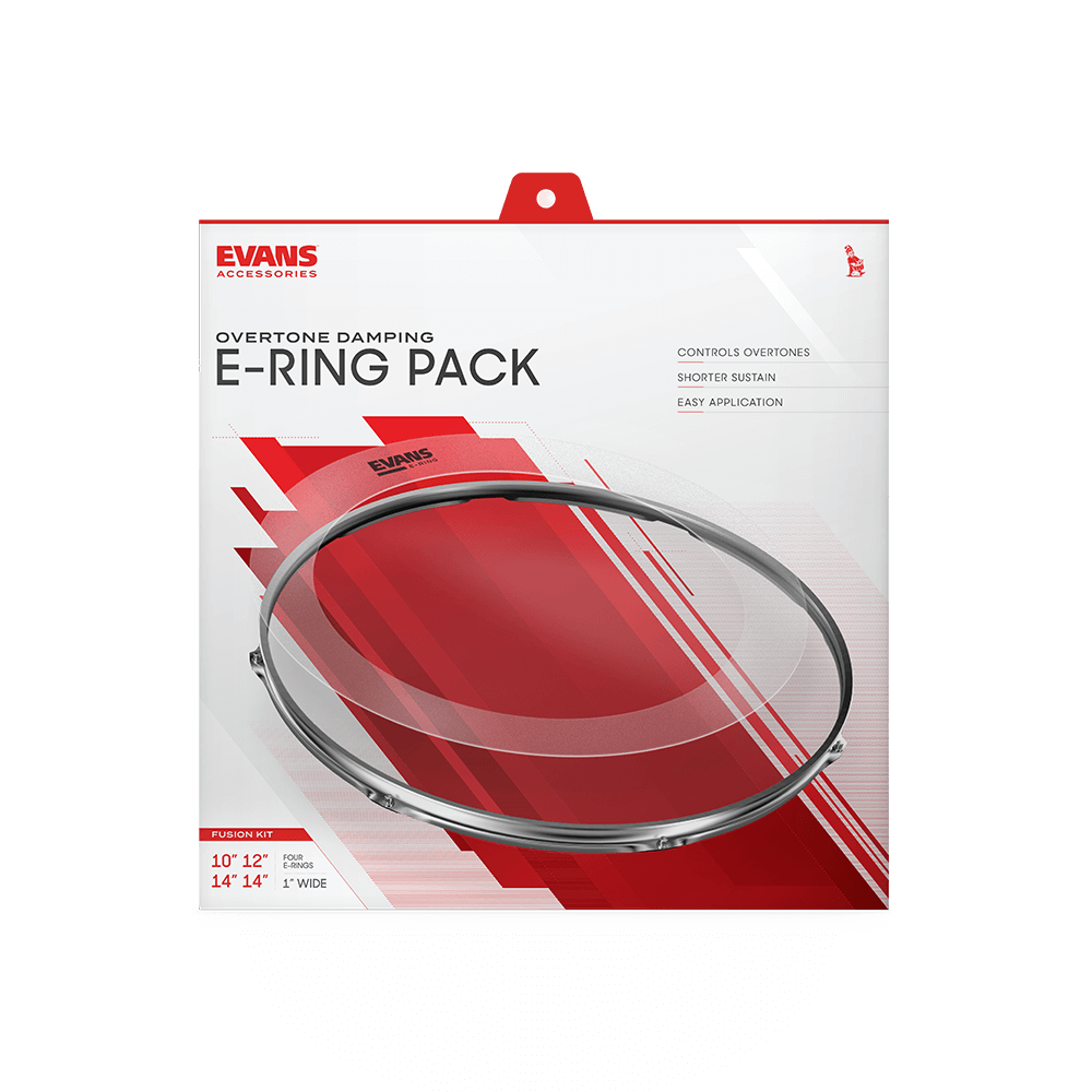"Evans ERFUSION E-Ring Fusion Pack 10"" 12"" 14"" w/ 14"" Snare E-Ring"