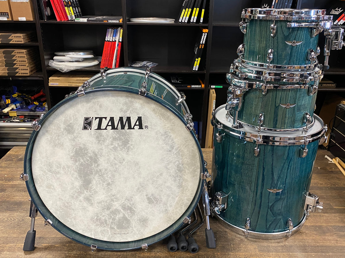 Tama Star Walnut 10/12/16/22 Shell Pack - Light Indigo Japanese Chestnut
