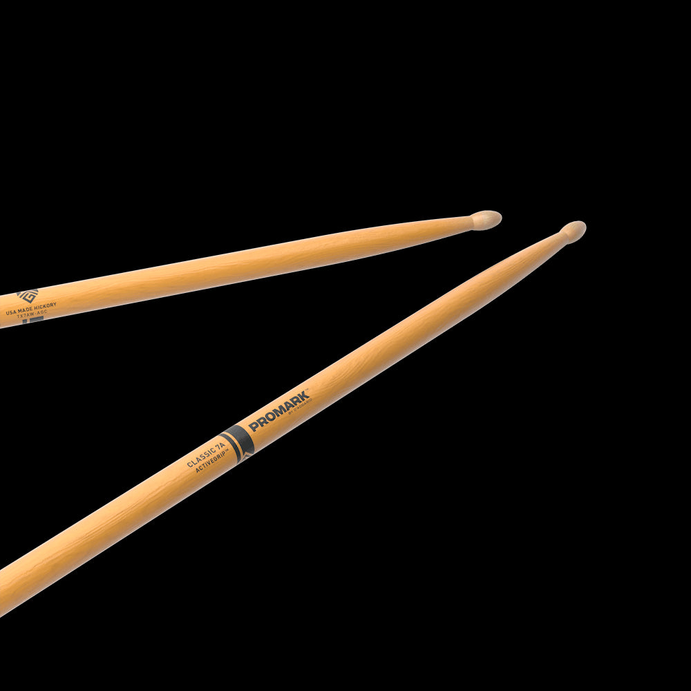 Promark TX7AWAGC Classic Drumsticks with ActiveGrip Clear 7A
