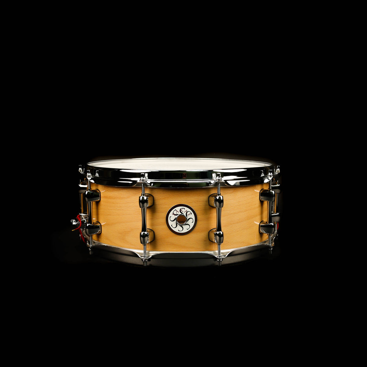Sakae Beech 5.5x14 Snare Drum Natural Lacquer - Used