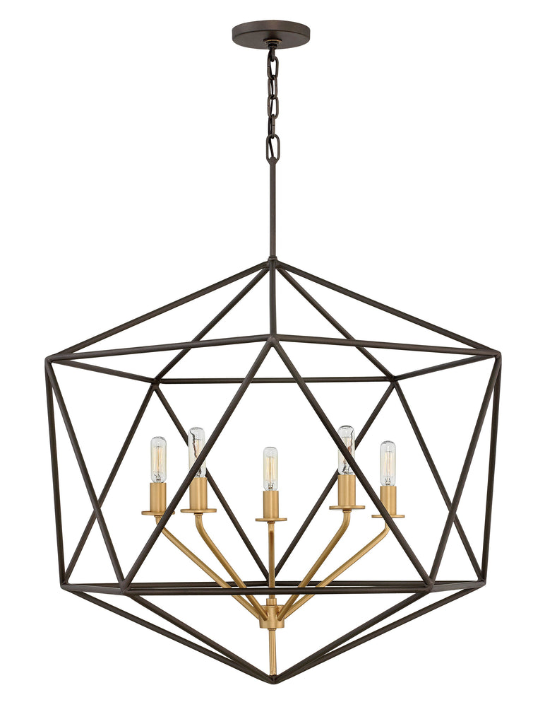 Decolight GEOMETRIC GEM CHANDELIER 5 Light Ceiling - Decolight Ltd