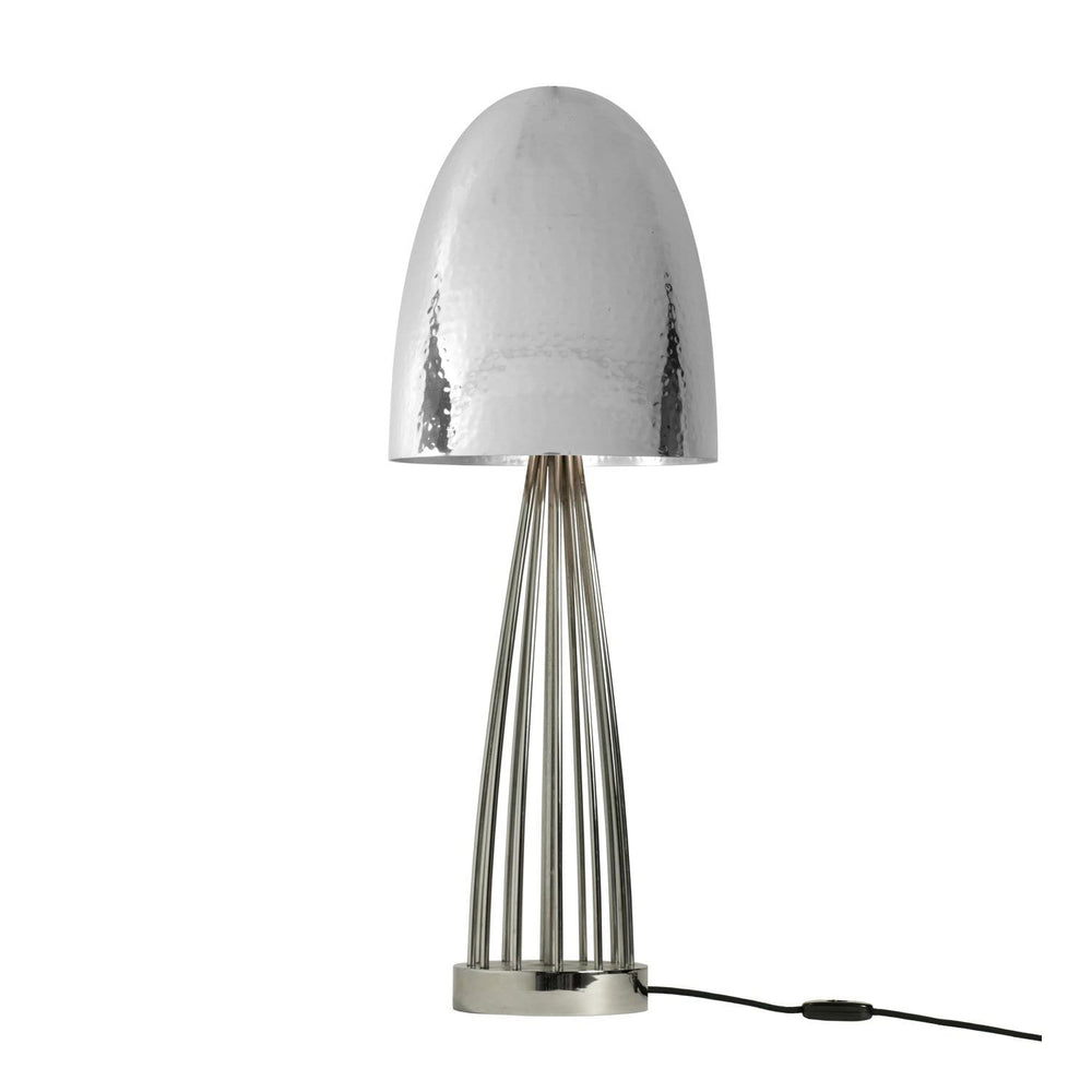 Original BTC Stanley Hammered Nickel Table Lamp