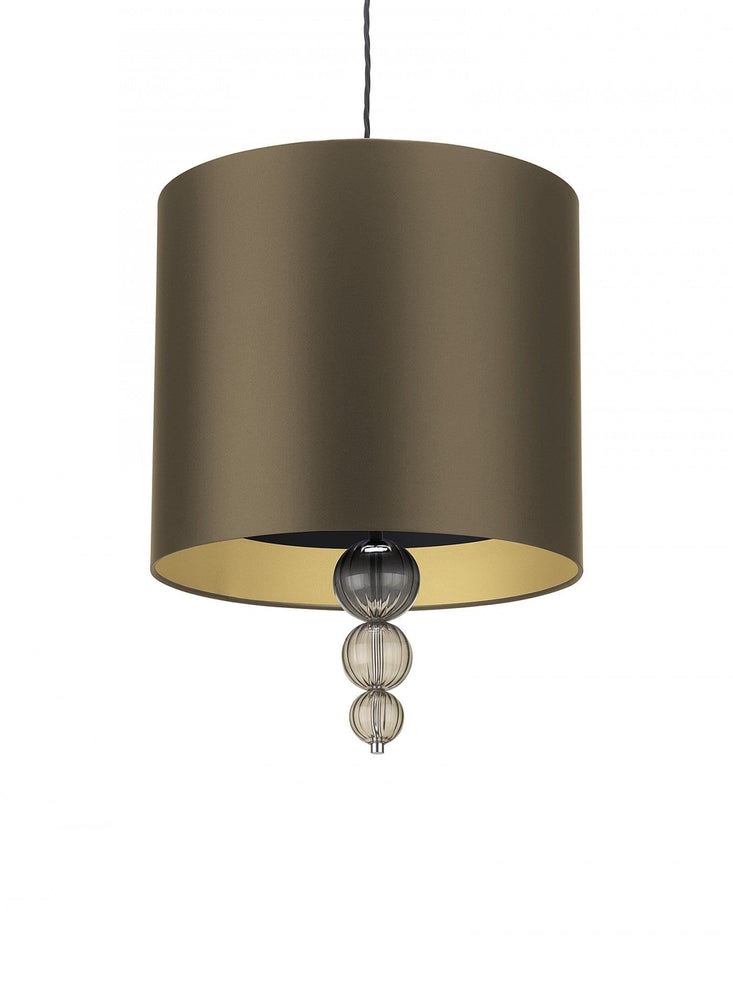 Heathfield Alette Gold Bronze Satin Smoke 16 _ Pendant Lampshade - Decolight Ltd