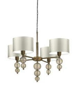 Heathfield Alette Chandelier Antique Brass Smoke with Lampshade - Decolight Ltd