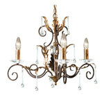 Decolight Ravello 3 light Ceiling Chandelier – Bronze/Gold - Decolight Ltd