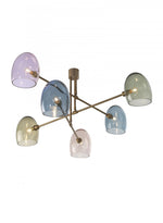 Heathfield Andromeda Ceiling Pendant Light Antique Brass with Glass Shades - Decolight Ltd