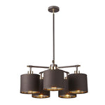 Decolight Balance 5 arm ceiling light polished brass - Decolight Ltd