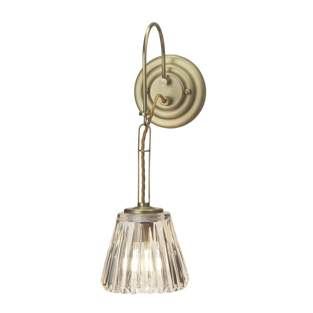 Decolight Demelza Brass Bathroom Wall Light