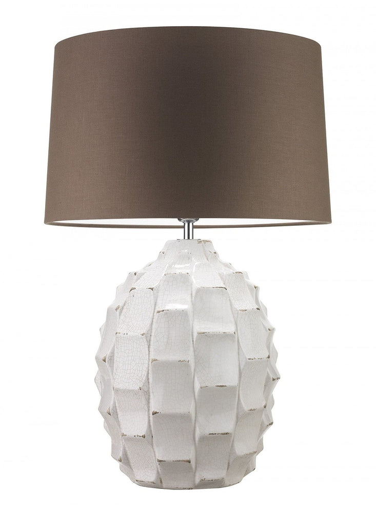 Heathfield & Co Bayern Ivory Ceramic Table Lamp - Decolight Ltd