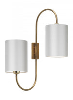 Heathfield Bronte Antique Brass Wall Light - Decolight Ltd