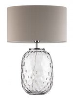 Heathfield & Co Bubble Clear Glass Table Lamp