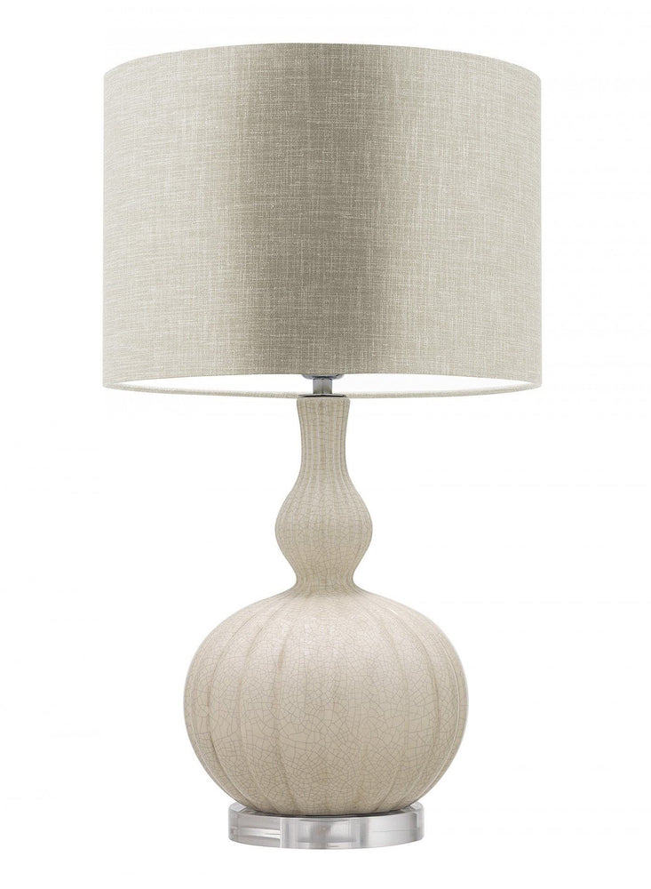 Heathfield Celine Natural Creme Table Lamp - Decolight Ltd