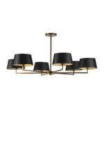 Heathfield Holt Pendant Ceiling Light 6 Arm Antique Brass