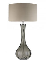 Heathfield Sophia Smoke Glass Table Lamp