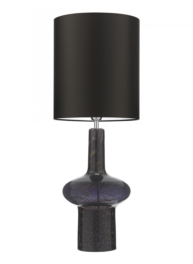 Heathfield Verdi Black Glass Table Lamp - Decolight Ltd