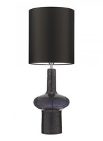 Heathfield Verdi Black Glass Table Lamp