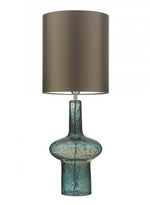 Heathfield Verdi Ocean Blue Glass Table Lamp - Decolight Ltd