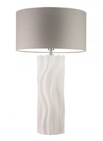 Heathfield Willow Ivory Large Ceramic Table Lamp