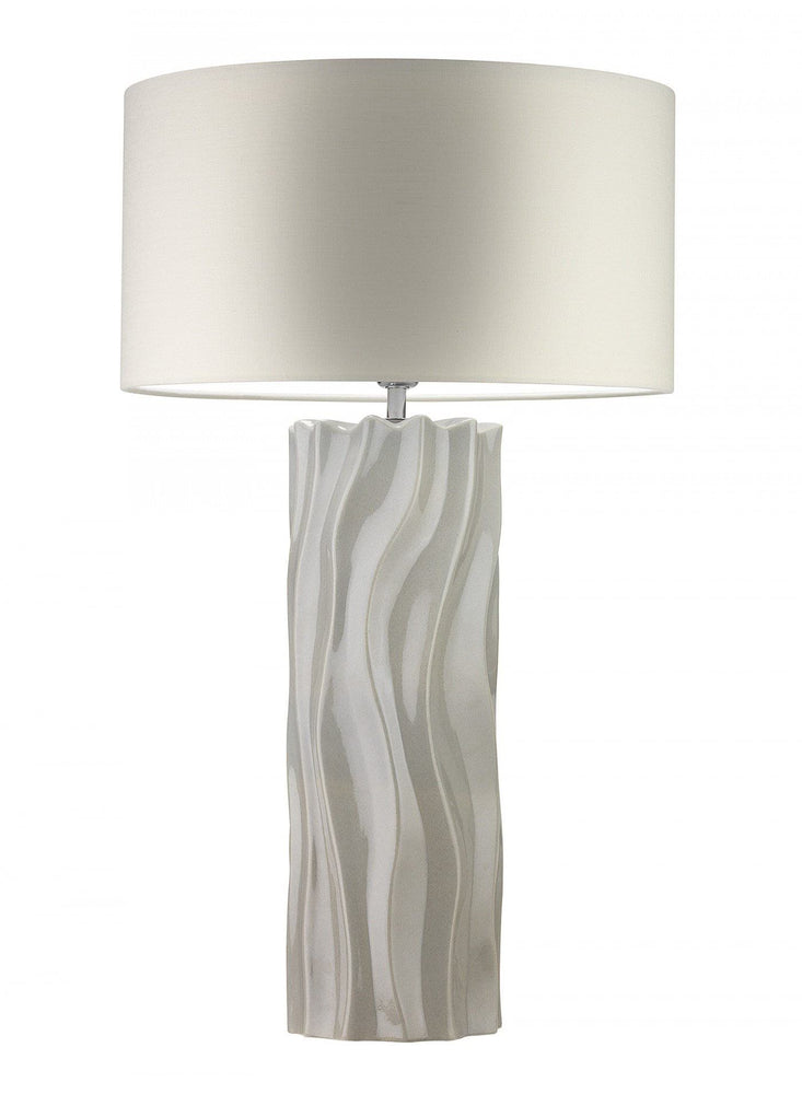 Heathfield Willow Mist Large Ceramic Table Lamp