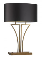 Heathfield Yves Antique Brass Table Lamp