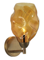 Heathfield Leoni Amber Brass Wall Light