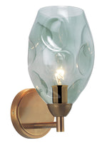 Heathfield Leoni Opal Jade Brass Wall Light