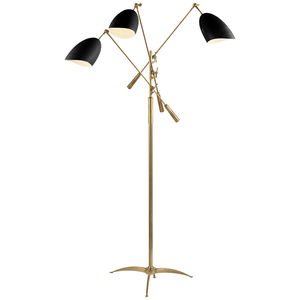 AERIN Sommerard Antique Brass  Floor Lamp Black