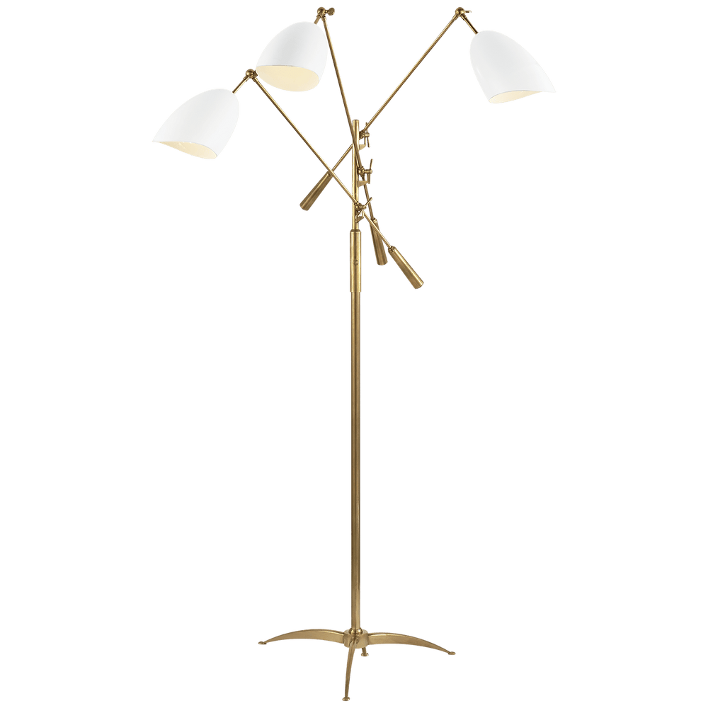 AERIN Sommerard Triple Arm Floor Lamp White - Decolight Ltd